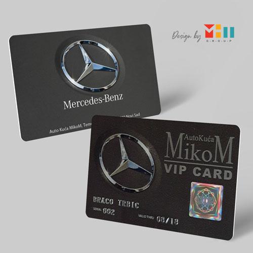 Dizajn plasticnih lojaliti kartica Mercedes